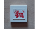 Part No: 3068bpb0296  Name: Tile 2 x 2 with Groove with Arla Dairy Logo Pattern (Sticker) - Set 1581