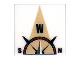 Part No: 3068bpb0357  Name: Tile 2 x 2 with Groove with Compass West 'W' in Tan Pointer Pattern