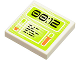Part No: 3068bpb0396  Name: Tile 2 x 2 with Groove with Lime Screen with '00:12' Pattern (Sticker) - Set 8637