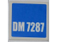 Part No: 3068bpb0486  Name: Tile 2 x 2 with Groove with 'DM 7287' on Blue Background Pattern (Sticker) - Set 7287