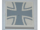 Part No: 3068bpb0588  Name: Tile 2 x 2 with Groove with Iron Cross Pattern (Sticker) - Set 7198