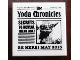 Part No: 3068bpb0658  Name: Tile 2 x 2 with Groove with Newspaper 'The Yoda Chronicles' Pattern