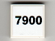 Part No: 3068bpb0663  Name: Tile 2 x 2 with Groove with '7900' Pattern (Sticker) - Set 7900