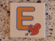 Part No: 3068bpb0714  Name: Tile 2 x 2 with Groove with Letter E Orange with Squirrel (Egern) Pattern