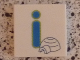 Part No: 3068bpb0718  Name: Tile 2 x 2 with Groove with Letter i Blue with Igloo Pattern