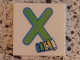 Part No: 3068bpb0733  Name: Tile 2 x 2 with Groove with Letter X Lime with Xylophone Pattern