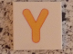 Part No: 3068bpb0734  Name: Tile 2 x 2 with Groove with Letter Y Yellow Pattern