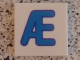 Part No: 3068bpb0737  Name: Tile 2 x 2 with Groove with Letter Æ Blue Pattern