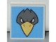 Part No: 3068bpb0776  Name: Tile 2 x 2 with Groove with Bird Raven Head Pattern