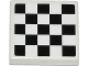 Part No: 3068bpb0778  Name: Tile 2 x 2 with Groove with Checkered Pattern (Sticker) - Set 60019