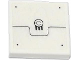 Part No: 3068bpb0788  Name: Tile 2 x 2 with Groove with Black Line, Rivets, Grille and 2 Circles Pattern (Sticker) - Set 70707