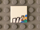 Part No: 3068bpb0796  Name: Tile 2 x 2 with Groove with Black 'W' Upper Half and Minifigures Pattern