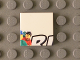 Part No: 3068bpb0797  Name: Tile 2 x 2 with Groove with Minifigures and Black 'RL' Upper Half Pattern