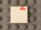 Part No: 3068bpb0807  Name: Tile 2 x 2 with Groove with Red '2' Lower Half Pattern