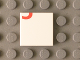 Part No: 3068bpb0809  Name: Tile 2 x 2 with Groove with Red '3' Lower Half Pattern