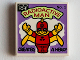 Part No: 3068bpb0828  Name: Tile 2 x 2 with Groove with Radioactive Man Pattern (71006)