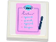 Part No: 3068bpb0831  Name: Tile 2 x 2 with Groove with 'NEWS' Notepad and Pen Pattern (Sticker) - Set 41056