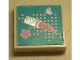 Part No: 3068bpb0890  Name: Tile 2 x 2 with Groove with Heart, Lipstick and Flower Pattern (Sticker) - Set 3187