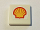 Part No: 3068bpb0894  Name: Tile 2 x 2 with Groove with Shell Logo Small Pattern (Sticker) - Set 40195