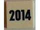 Part No: 3068bpb0899  Name: Tile 2 x 2 with Groove with '2014' Pattern