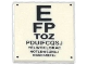 Part No: 3068bpb0923  Name: Tile 2 x 2 with Groove with Eye Chart Pattern