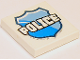 Part No: 3068bpb0974  Name: Tile 2 x 2 with Groove with 'POLICE' on Badge Pattern (10720)