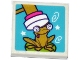 Part No: 3068bpb1049  Name: Tile 2 x 2 with Groove with Frog and Mallet Pattern (Sticker) - Set 41127