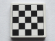 Part No: 3068bpb1071  Name: Tile 2 x 2 with Groove with Checkered Pattern with Thin Black Border (Sticker) - Set 75913
