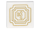Part No: 3068bpb1107  Name: Tile 2 x 2 with Groove with Gold Concentric Borders and Asian Character Pattern (Sticker) - Set 70620