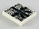 Part No: 3068bpb1223  Name: Tile 2 x 2 with Groove with Black Spirals and Giftwrap Ribbon and Bow Pattern