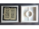 Part No: 3068bpb1224  Name: Tile 2 x 2 with Groove with White Open Book on Black Background Pattern (Sticker) - Set 296