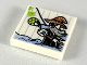 Part No: 3068bpb1234  Name: Tile 2 x 2 with Groove with Child's Drawing, Man Standing in Water with Jewel and Skull Staff Pattern