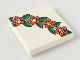 Part No: 3068bpx92  Name: Tile 2 x 2 with Groove with 4 Flowers and Leaves Pattern