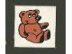 Part No: 3068pb13  Name: Tile 2 x 2 with Fabuland Bear Pattern