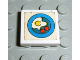 Part No: 3068pb15  Name: Tile 2 x 2 with Blue Circle Plate, Fried Egg, 2 Red Spots Pattern (Sticker) - Sets 1561-2 / 263-1
