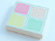 Part No: 3068pb19  Name: Tile 2 x 2 with 4 Pastel Squares Pattern