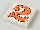 Part No: 3068pb42  Name: Tile 2 x 2 with Number  2 Orange Pattern