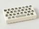 Part No: 3069bp80  Name: Tile 1 x 2 with Groove with Computer Keyboard Simple Pattern