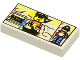 Part No: 3069bpx22  Name: Tile 1 x 2 with Groove with Minifigure and Pyramids Pattern