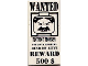 Part No: 3069bpx37  Name: Tile 1 x 2 with Groove with 'WANTED' 500 Reward Poster Pattern