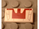 Part No: 3069bpx47  Name: Tile 1 x 2 with Groove with Red and Gray Mini Jedi Starfighter Pattern