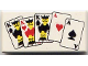 Part No: 3069bpx6  Name: Tile 1 x 2 with Playing Cards Full House Pattern