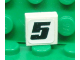 Part No: 3070bpb055  Name: Tile 1 x 1 with Groove with Number 5 Pattern (Sticker) - Set 8655