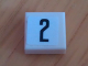 Part No: 3070bpb080  Name: Tile 1 x 1 with Groove with Number 2 Narrow Pattern (Sticker) - Set 8135