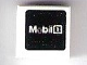 Part No: 3070bpb127  Name: Tile 1 x 1 with Groove with 'Mobil 1' on Black Background Pattern (Sticker) - Set 75876
