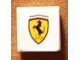 Part No: 3070bpb137  Name: Tile 1 x 1 with Groove with Ferrari Logo Pattern (Sticker) - Set 8144