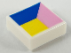 Part No: 3070bpb153  Name: Tile 1 x 1 with Groove with Blue, Bright Pink and Yellow Polygons Pattern