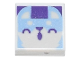 Part No: 3070bpb189  Name: Tile 1 x 1 with Groove with Bright Light Blue Animal Face Pattern