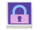 Part No: 3070bpb194  Name: Tile 1 x 1 with Groove with Bright Pink Locked Padlock on Dark Purple Background Pattern