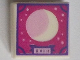 Part No: 3070bpb197  Name: Tile 1 x 1 with Groove with Crescent Moon in Scrapbook Frame with Magenta Background Pattern